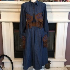 Unique 2 piece Western skirt and top/jacket